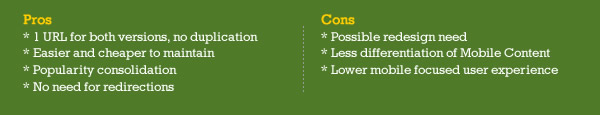 Responsive Web Design Pros and Cons - Mobile SEO
