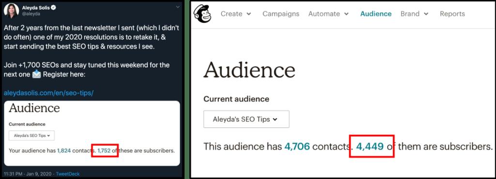 seofomo newsletter subcribers start vs may 22