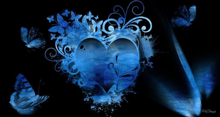 قلبٌ مائلٌ للزرقة