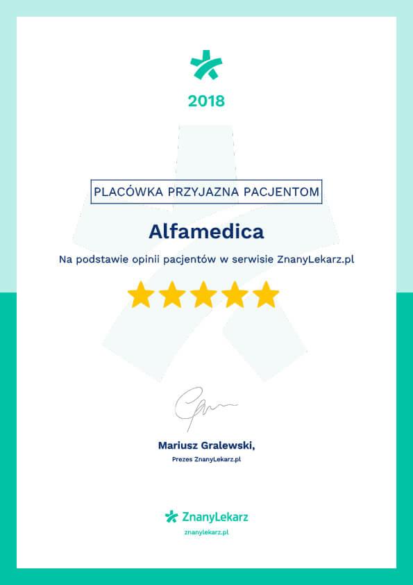certyfikat znanylekarz.pl