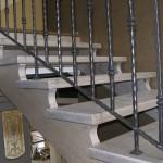 Scale Interne Classiche in legno massello rovere sbiancato - Alfa Scale