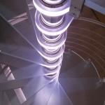 Scala a Chiocciola Reflex Glass Led- Effetto Luminoso- Vista dall'alto