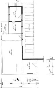 Bauplan des Anbaus an das Schützenhaus