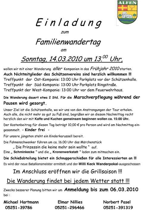 Wandern2010-Aushang
