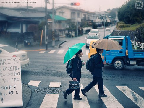 Kids on their way home from school in Kanagawa