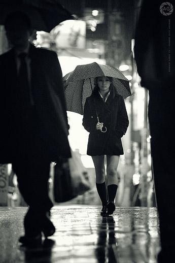 Schoolgirl heads home, Yokohama