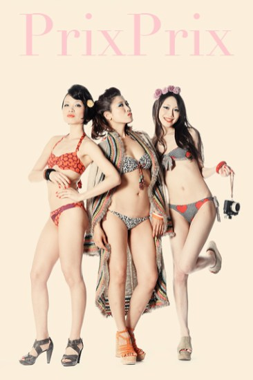 Studio fashion shoot for PrixPrix, Japan