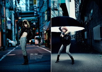 Magazine spread of shots with Shinyong Lee