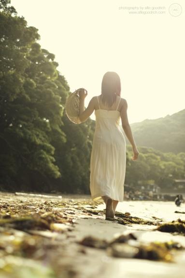Ruri catching the sun near Hyuga, Kyushu