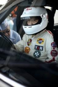 Tetsu Ikuzawa preparing for his first race of the day