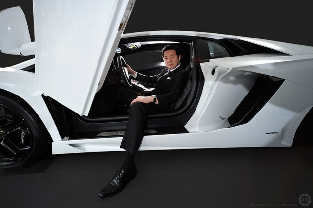 Boss of Lamborghini Japan for Eurobiz Magazine