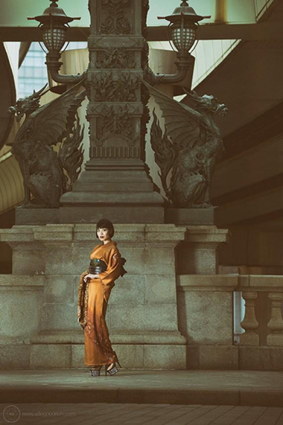 Shoot for kimonogeisha.com in Nihonbashi