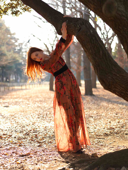 Reverie, fashion shoot in Yoyogi Park