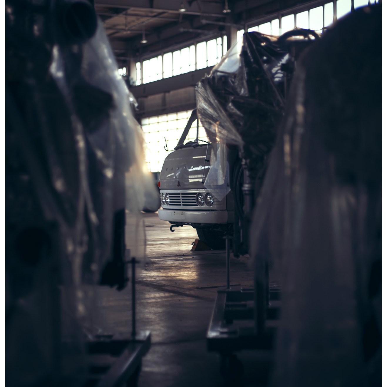 Shooting Mitsubishi-Fuso's heritage truck collection