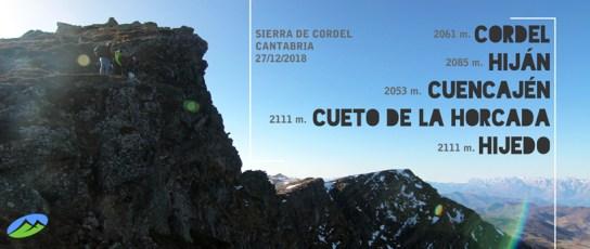 MendiaK: Cordel, Hiján, Cuencajén, Cueto de la Horcada e Hijedo