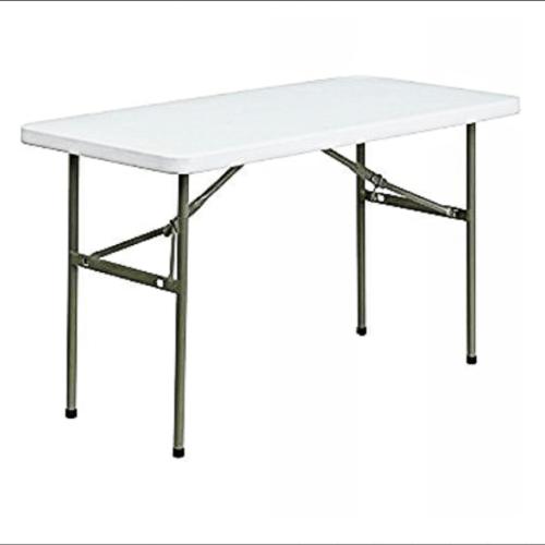 4-seater restaurant plastic folding table