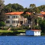 Mansion on lake