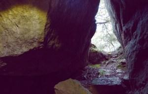 Entrada de la cova del Rufino