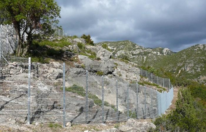 El conjunt pictòric es troba al barranc de Montpou, en el terme municipal del Mas de Barberans