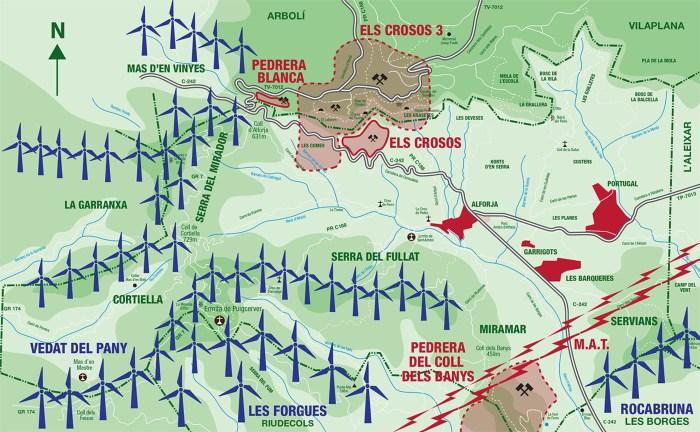 Mapa de desastres medioambientals d'Alforja