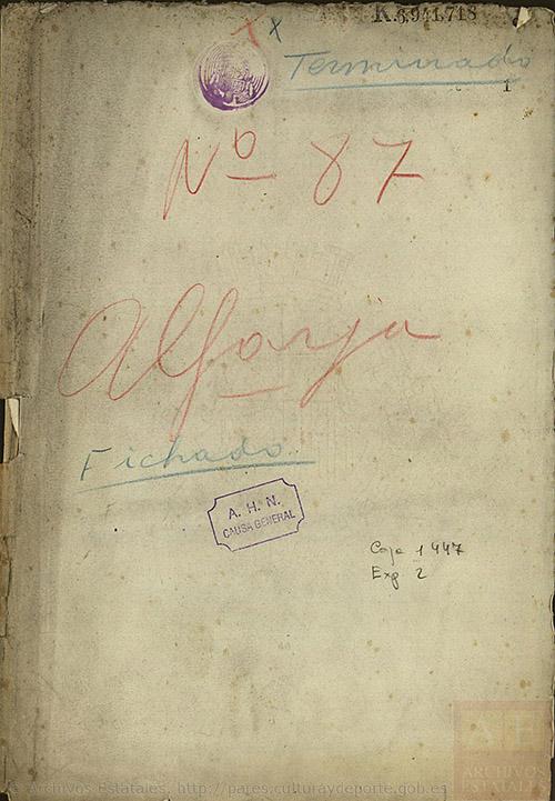 Documentos correspondientes a Causa General del A.H.N.Subdirección General de los Archivos EstatalesMinisterio de Cultura.España
