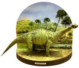 Diorama dinosauri - Apatosauro