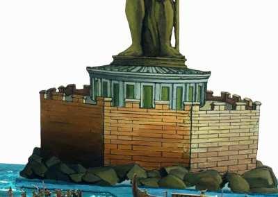 Zinnfiguren diorama – Battaglia navale a Rodi