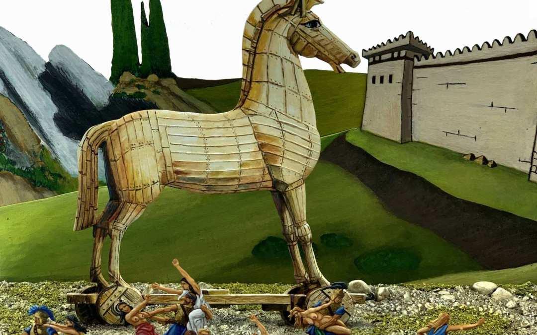 Zinnfiguren diorama – Iliade