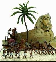 Trasporto statua faraonica a Giza