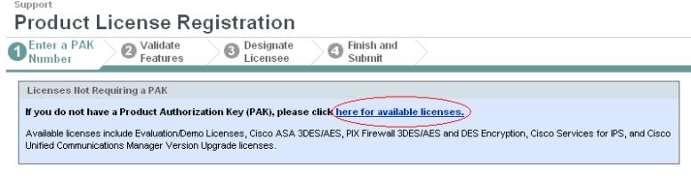 Cisco ASA license registration