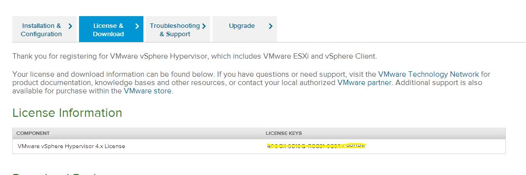 Vmware ESXi 4 1 Free License key - Alfred Tong