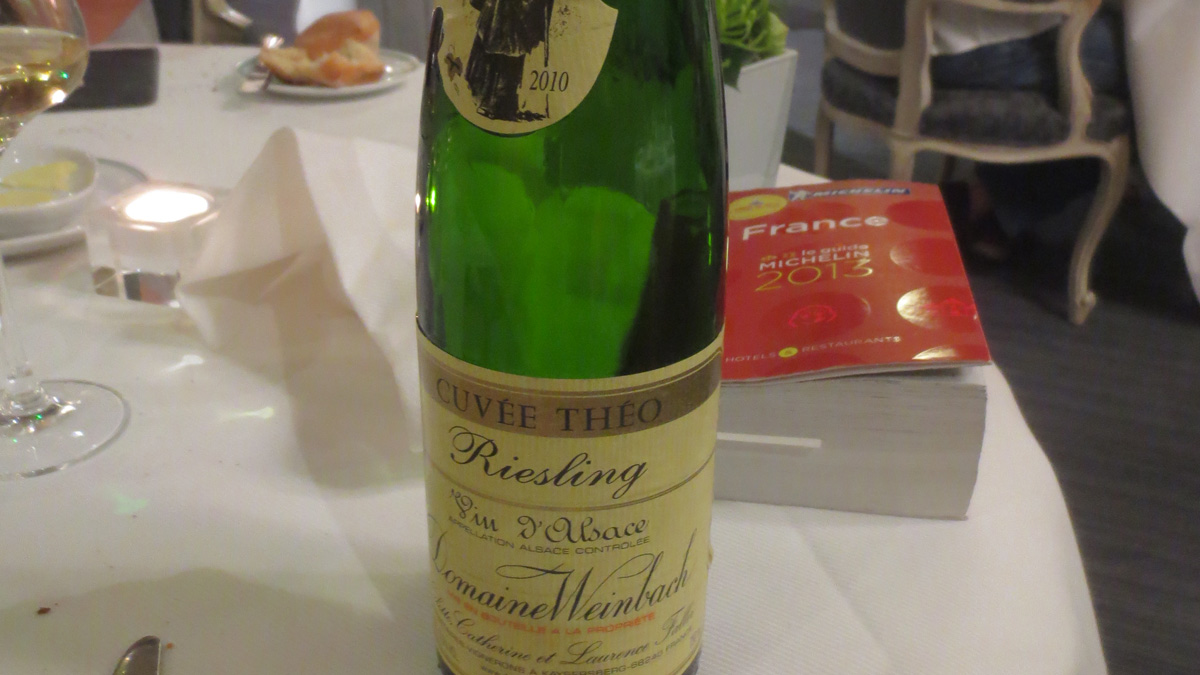 Riesling Cuvée Théo 2010 di Domaine Weinbach