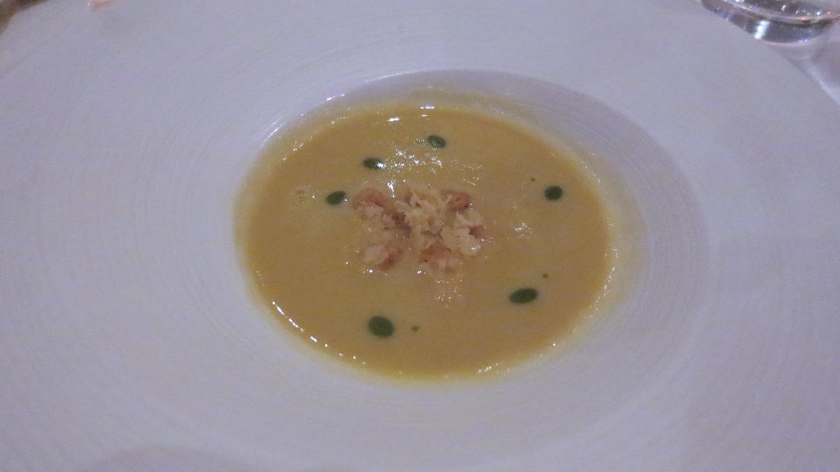 Zuppa di mais con parmigiano