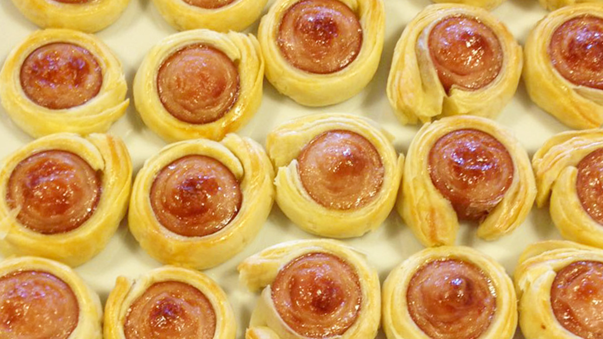 Pasta sfoglia e Wurstel