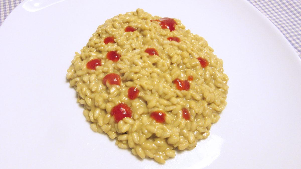 Risotto ai carciofi e burro di arachidi