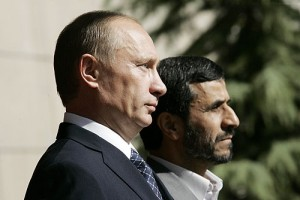 Dawn of a new day? Putin with Iranian President Mahmoud Ahmedinejad