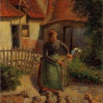 French impressionist Camille Pissarro's 'Shepherdess Bringing In Sheep' that was stolen by the Nazis. Photo: Screenshot.