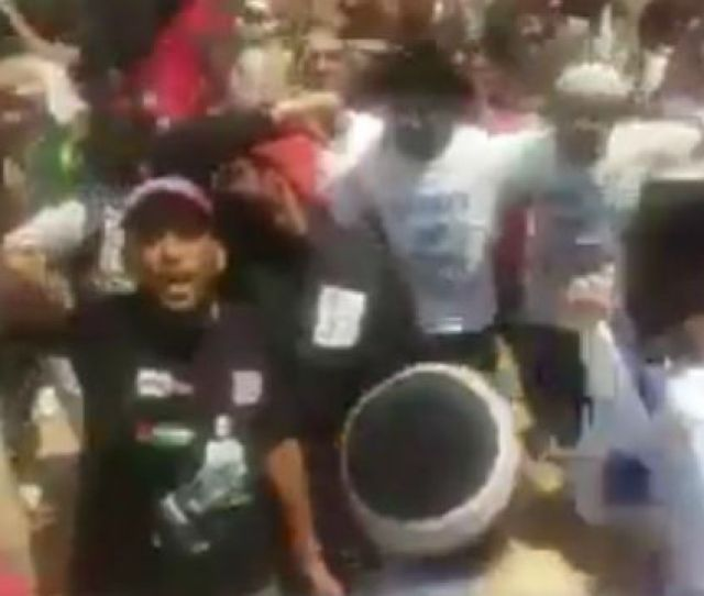 Bds Activists Surrounded By A Dancing And Singing Group Of Jews And Israel Allies At Wits