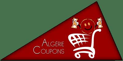 Logo d'une forme triangulaire et de couleur rouge représentant la marque Algérie coupon