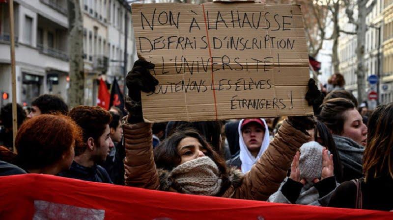 Marche contre la hausse des frais universitaires en France