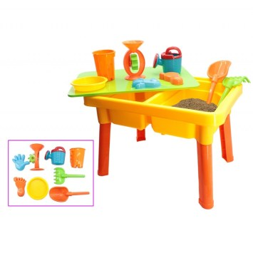 TABLE DE JEU AVEC BAC A SABLE ET BAC A EAUX AK-037121