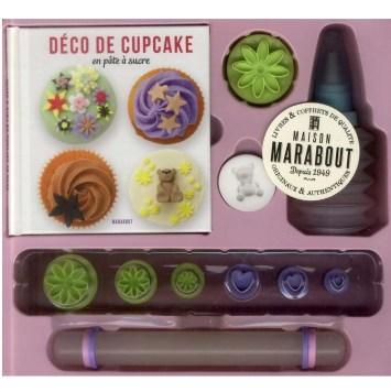 Atelier décor de gâteau - Déco de cupcake pâte à sucre ; coffret