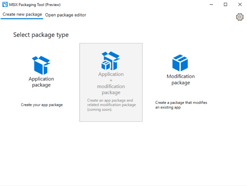 MSIX packaging tool preview