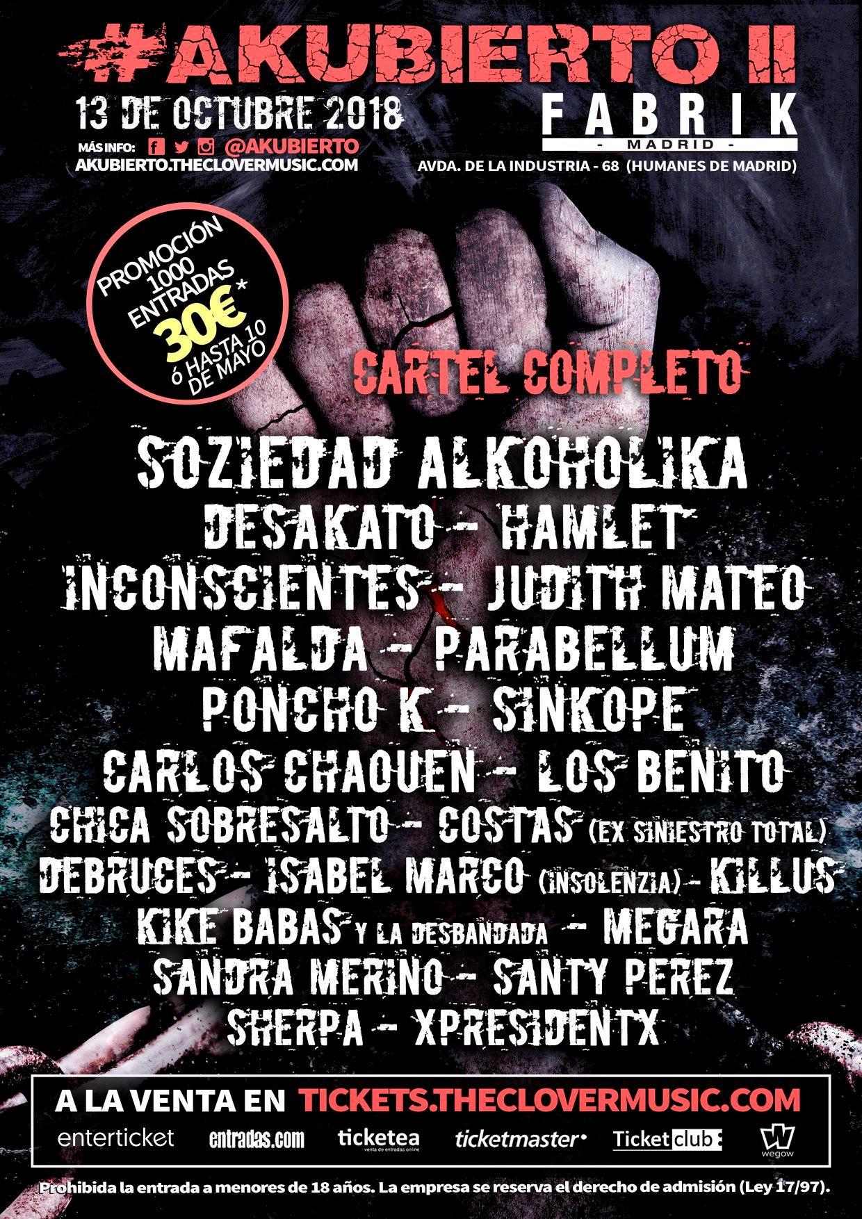 AKUBIERTO FESTIVAL publica el cartel completo
