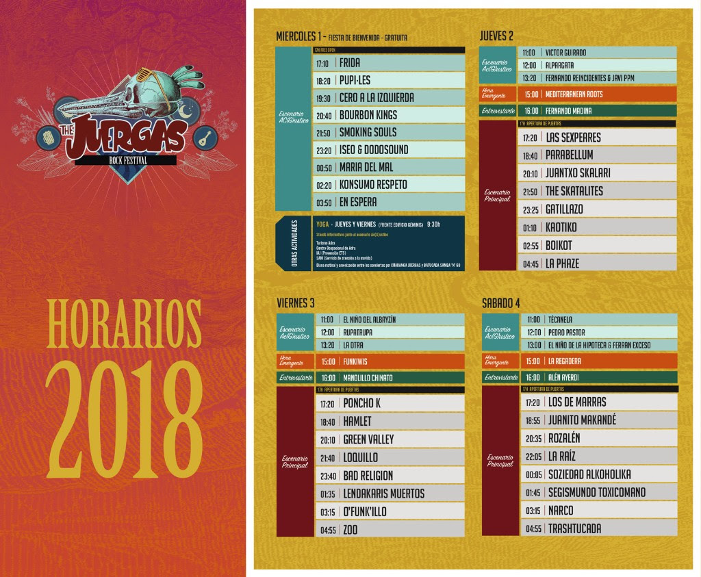 Horarios para The Juergas Rock Festival