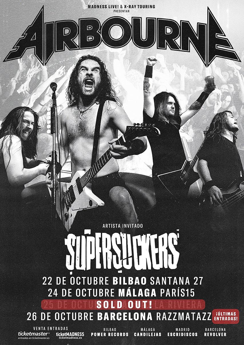 AIRBOURNE+SUPERSUCKERS – GIRA POR ESPAÑA EN OCTUBRE