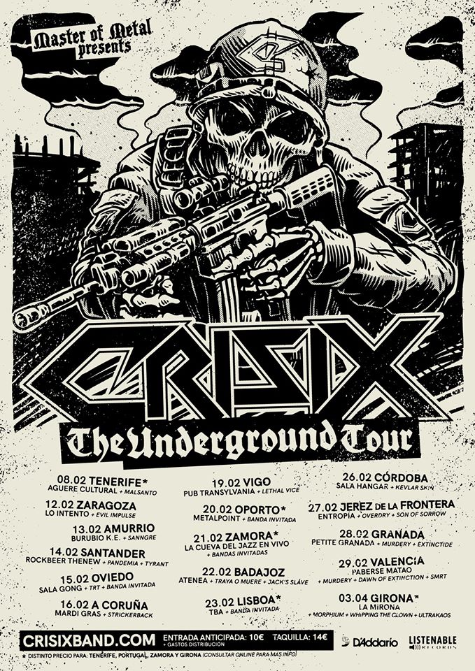 CRISIX – THE UNDERGROUND TOUR 2020
