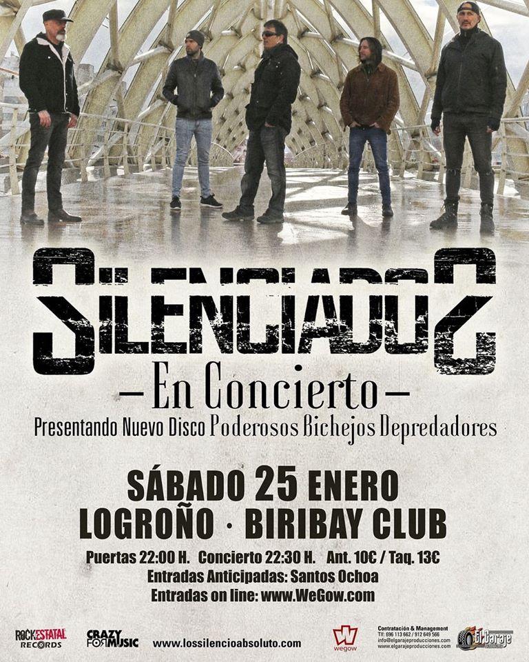 [Crónica] Silenciados 25 de enero en Logroño (Sala Biribay)