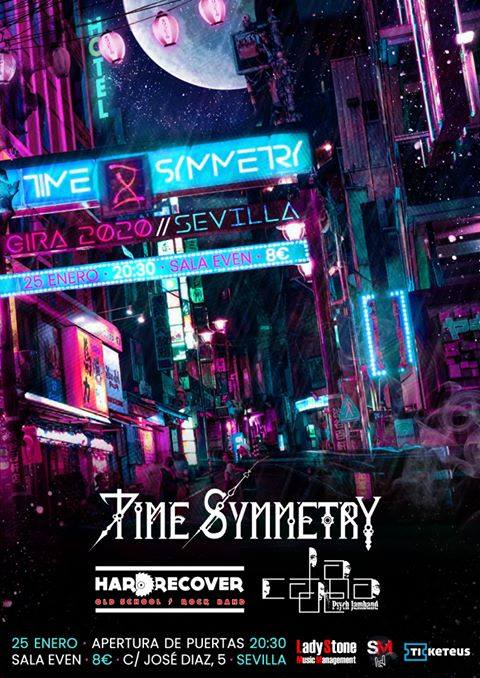 [Crónica] Time Symmetry + La Cadena Psych JamBand + Hard Recover, el 25 de enero Sevilla (Sala Even)