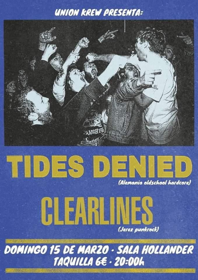 Tides Denied + Clear Lines estarán el 15 de marzo en Sevilla (Sala Hollander)